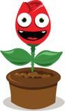 O vermelho engraçado levantou-se sorrindo ilustração stock