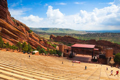 O vermelho famoso balança o anfiteatro em Morrison Fotografia de Stock Royalty Free