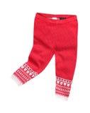 O vermelho feito malha caçoa calças do inverno da forma Imagem de Stock Royalty Free
