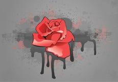 O vermelho levantou-se ilustração do vetor