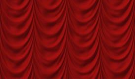 O vermelho luxuoso drapeja ilustração stock