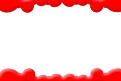 O vermelho nubla-se PhotoFrame Fotografia de Stock Royalty Free