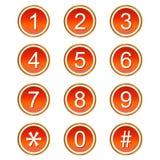 O vermelho numera ícones Fotografia de Stock