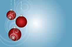 O vermelho ornaments o hangin Imagem de Stock