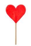 O vermelho ouve o lollipop dado forma Imagem de Stock