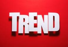 O vermelho é sempre dentro tendência Foto de Stock