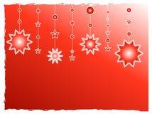 O vermelho stars a decoração Fotografia de Stock