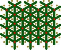 O Vermelho-verde-ouro, Y-teste padrão, X-mas, pontilha foto de stock royalty free