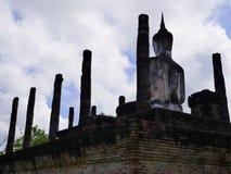 O verso de buddha no parque histórico de Tailândia Foto de Stock Royalty Free