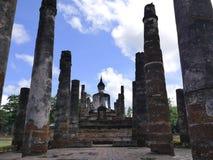 O verso de buddha no parque histórico de Tailândia Fotografia de Stock Royalty Free