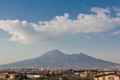 O Vesúvio em Nápoles fotografia de stock royalty free
