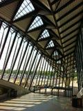 O vestíbulo da estação de Saint-Exupery em Lyon Imagens de Stock Royalty Free