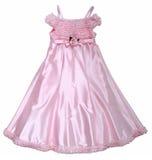 O vestido cor-de-rosa com levantou-se Fotos de Stock