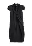 O vestido preto isolou-se Fotos de Stock Royalty Free