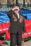 O veterano das tampas da segunda guerra mundial do sol Fotografia de Stock