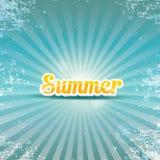 O vetor abstrato do verão irradia o fundo ilustração do vetor