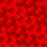 O vetor abstrato esquadra o fundo vermelho Fotos de Stock Royalty Free
