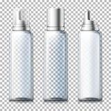 O vetor ajustou - garrafas transparentes realísticas da espuma 3d ilustração do vetor