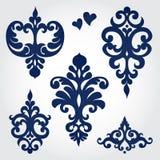 O vetor ajustou-se com os ornamento barrocos no estilo vitoriano. Foto de Stock