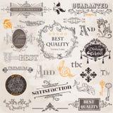 O vetor ajustou-se: Elementos caligráficos do projeto Fotografia de Stock Royalty Free