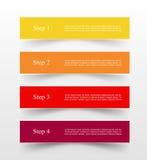 O vetor alinha as setas infographic ilustração stock