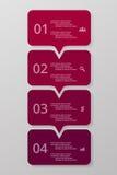 O vetor alinha as setas infographic ilustração do vetor