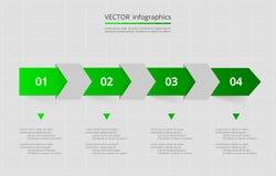O vetor alinha as setas infographic ilustração royalty free
