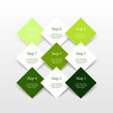 O vetor alinha as setas infographic Imagem de Stock Royalty Free