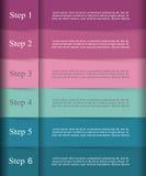 O vetor alinha infographic Fotografia de Stock