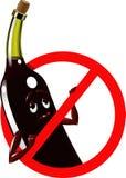 O vetor assina a proibição nenhum álcool Fotos de Stock Royalty Free