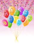 O vetor balloons a decoração pronta para o aniversário ilustração stock