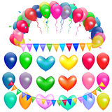 O vetor Balloons o partido Foto de Stock Royalty Free