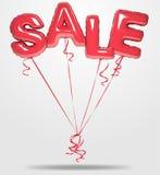 O vetor balloons o texto da venda ilustração royalty free