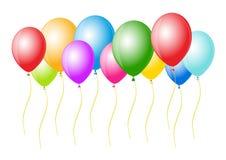 O vetor balloons pronto para o aniversário e o partido ilustração royalty free