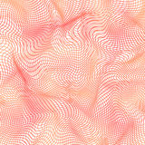 O vetor cor-de-rosa curvado alinha o fundo abstrato Fotos de Stock