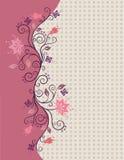 O vetor cor-de-rosa floresce a beira ilustração stock