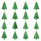 O vetor da árvore ajustou imagens ilustração stock