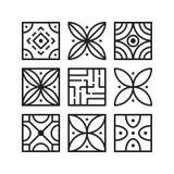 O vetor da coleção do molde da cenografia do ícone do teste padrão isolou-se ilustração royalty free