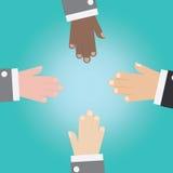 O vetor da mão do homem de negócios une-se Fotografia de Stock