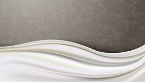 O vetor da tela de seda do marfim em Brown modelou o fundo Fotografia de Stock