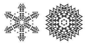 O vetor de Israel Jew Ethnic Fractal Mandala olha como o floco de neve ou ilustração royalty free