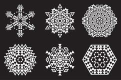 O vetor de Israel Jew Ethnic Fractal Mandala olha como o floco de neve ou ilustração stock