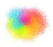 O vetor de néon brilhante do pó da pintura do colord textured a nuvem ilustração do vetor