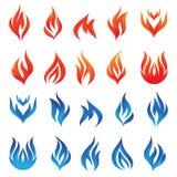 Grupo do vetor do fogo ilustração royalty free
