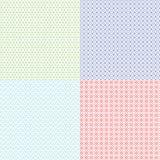 O vetor dos testes padrões do Guilloche ajustou-se para a textura do comprovante, da cédula, do certificado e do dinheiro Fotos de Stock