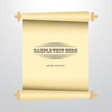 O vetor enrolou a ilustração de papel velha Fotos de Stock