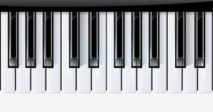 O vetor fecha o instrumento de música do piano. eps10 Fotos de Stock Royalty Free
