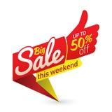 O vetor grande do negócio da oferta do preço de venda etiqueta etiquetas dos moldes Imagem de Stock Royalty Free