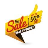 O vetor grande do negócio da oferta do preço de venda etiqueta o projeto das etiquetas dos moldes Fotos de Stock Royalty Free