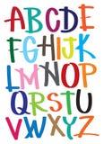 O vetor ilustra o alfabeto Fotografia de Stock